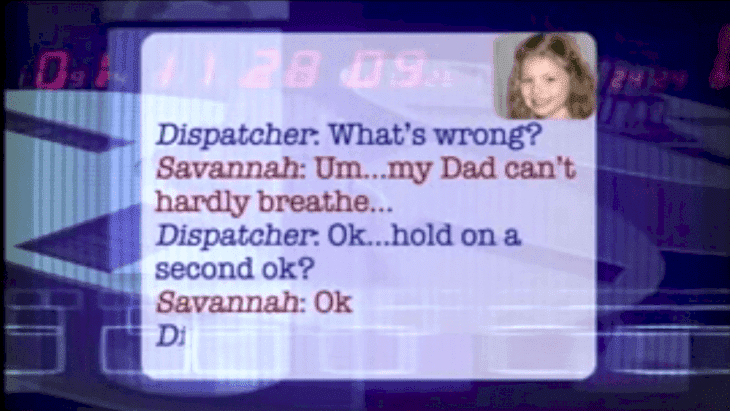 Savannah explains the situation to the 911 dispatcher. | Source: YouTube/jeffsaks123