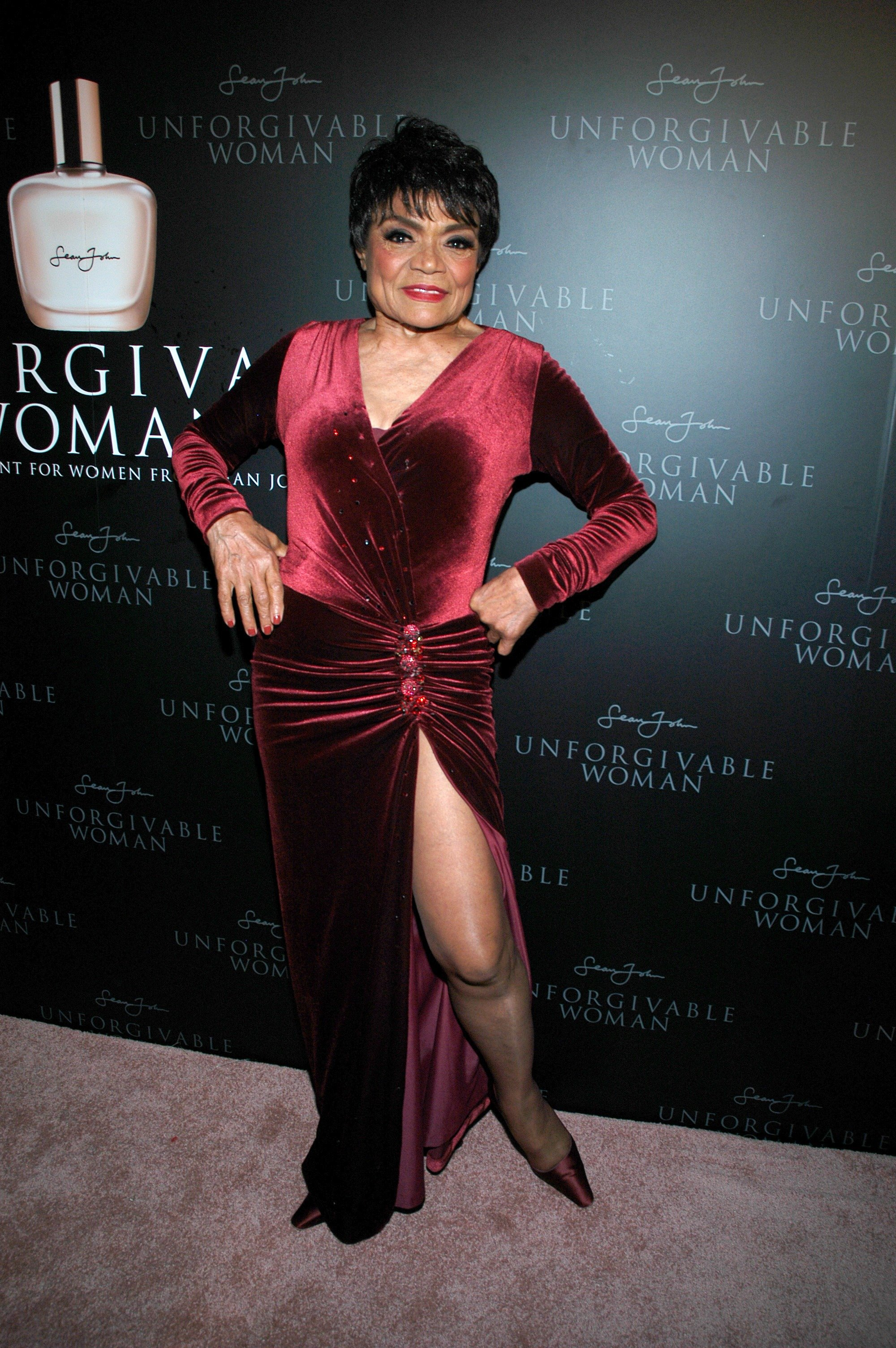 """Eartha Kitt at the launch of Sean """"Diddy"""" Combs' new scent """"Unforgivable Woman"""" on September 19, 2007 in New York City   Photo: Getty Images"""