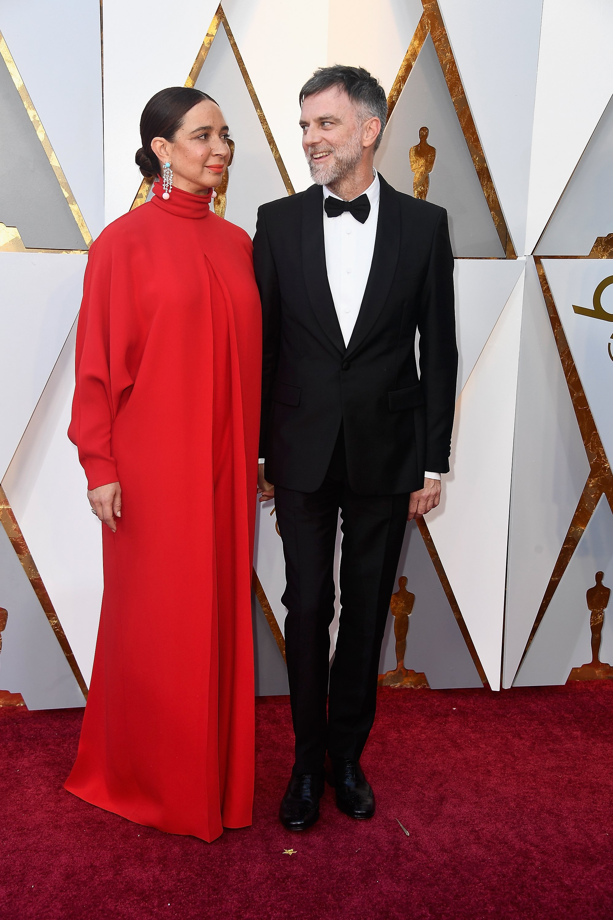 Maya Rudolph and Paul Thomas Anderson at the 90th Annual Academy Awards on March 4, 2018 in Hollywood, California   Photo: Getty Images