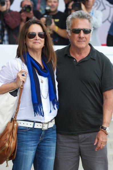 Dustin Hoffman and his wife Lisa Gottsegen arrive at the Maria Cristina Hotel during 60th San Sebastian International Film Festival on September 27, 2012, in San Sebastian, Spain. | Source: Getty Images.