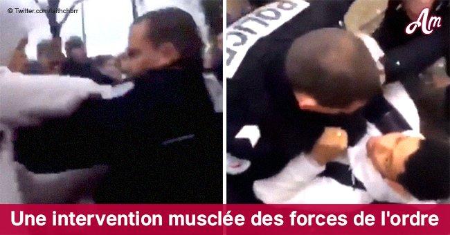 Un policier a attaqué un élève, l'a jeté par terre et a énervé les utilisateurs (vidéo)
