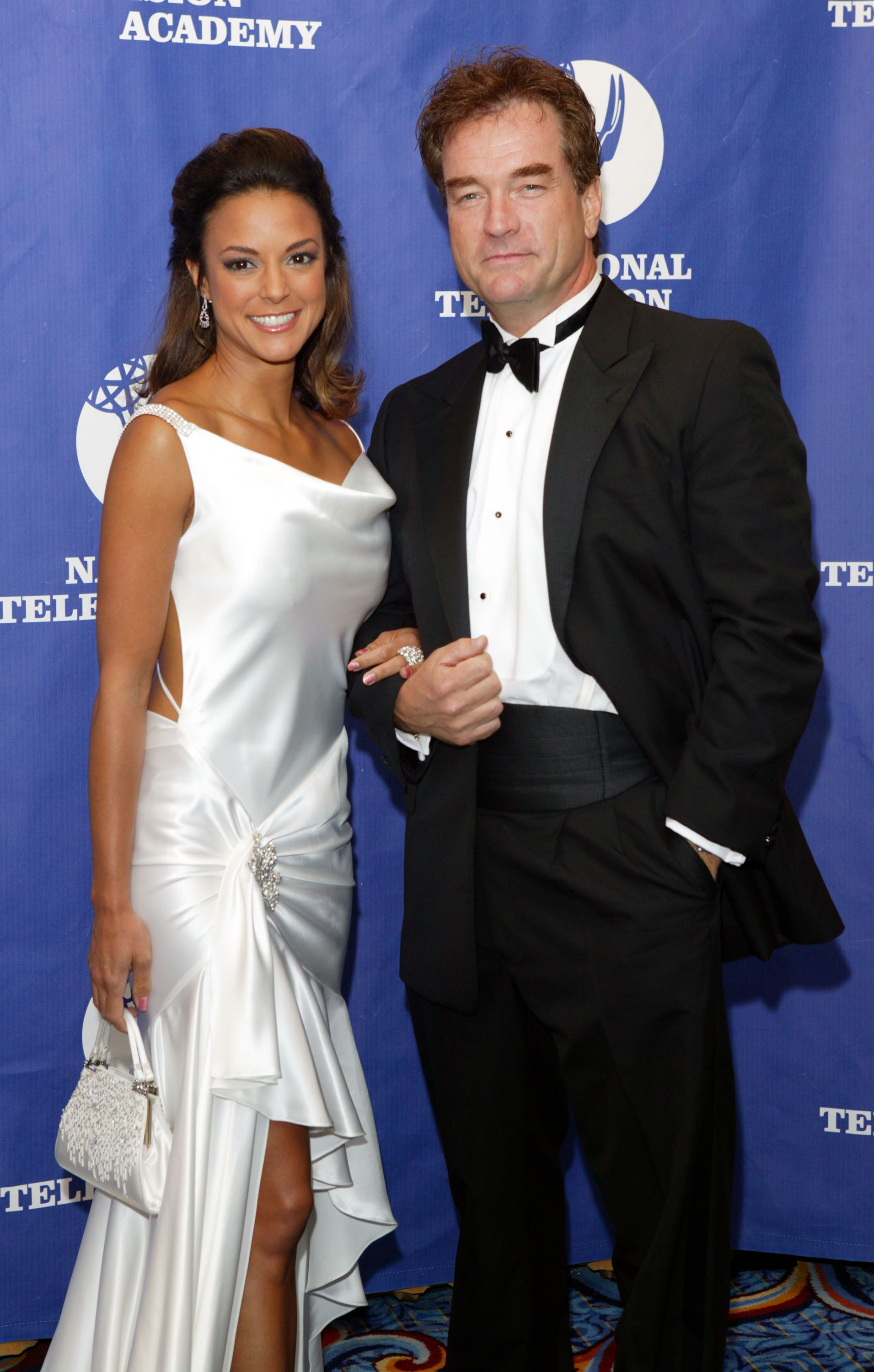 Eva LaRue and John Callahan at the 31st Annual Creative Craft Daytime Emmy Awards on May 15, 2004 in New York City | Photo: Getty Images