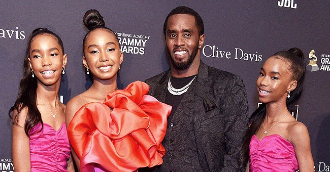 Diddy's 3 Daughters Look Like Triplets in Matching Plaid Skirts & Jackets during Joint Outing