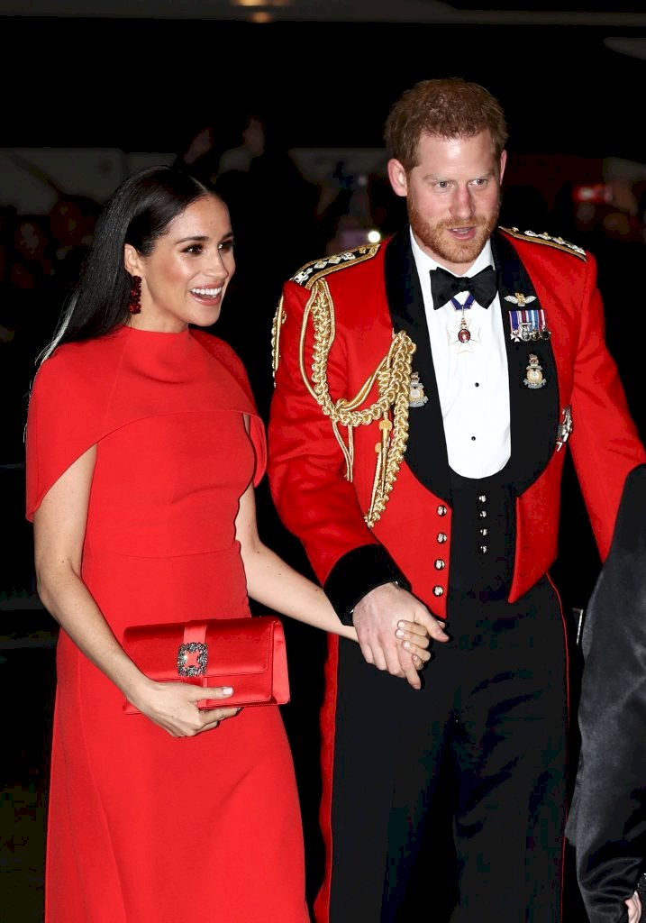 Prince Harry, Duke of Sussex, and Meghan, Duchess of Sussex arrive to attend The Mountbatten Festival of Music Source | Photo: Getty Images