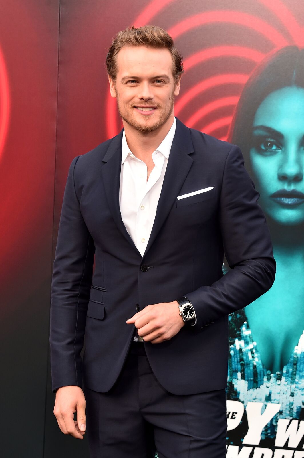 Sam Heughan attends the premiere of Lionsgate's 'The Spy Who Dumped Me' at Fox Village Theater on July 25, 2018 | Photo: Getty Images