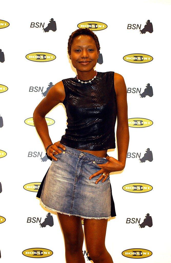Jennifer Rope en el Fashion Show Bossini /Tony Wear 2002, el 1 de septiembre de 2002 en Madrid, España.   Imagen: Getty Images