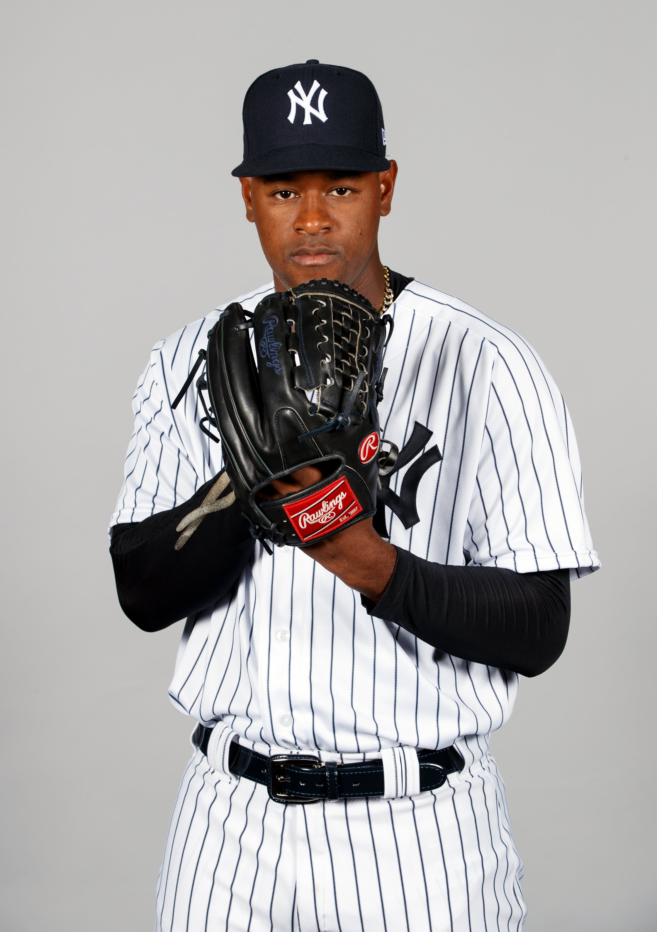 Luis Severino #40 of the New York Yankees poses during Photo Day on Thursday, February 20, 2020 | Photo: Getty Images