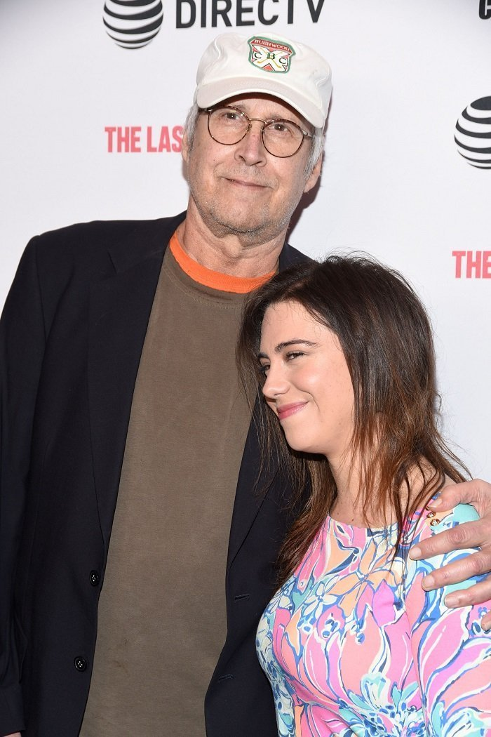 Chevy Chase and daughter Caley Leigh ChaseI I Image: Getty Images.