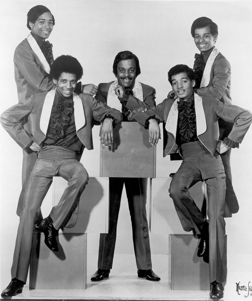 The Five Staristeps pose for a photo in black and white, circa 1970. | Source: Getty Images