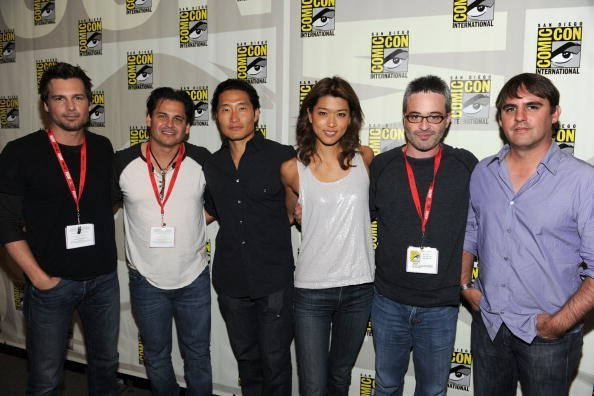 Director Len Wiseman, writer/producer Peter M. Lenkov, actors Daniel Dae Kim and Grace Park, and producers Alex Kurtzman and Roberto Orci at San Diego Convention Center on July 23, 2010 in San Diego, California. | Photo: Getty Images