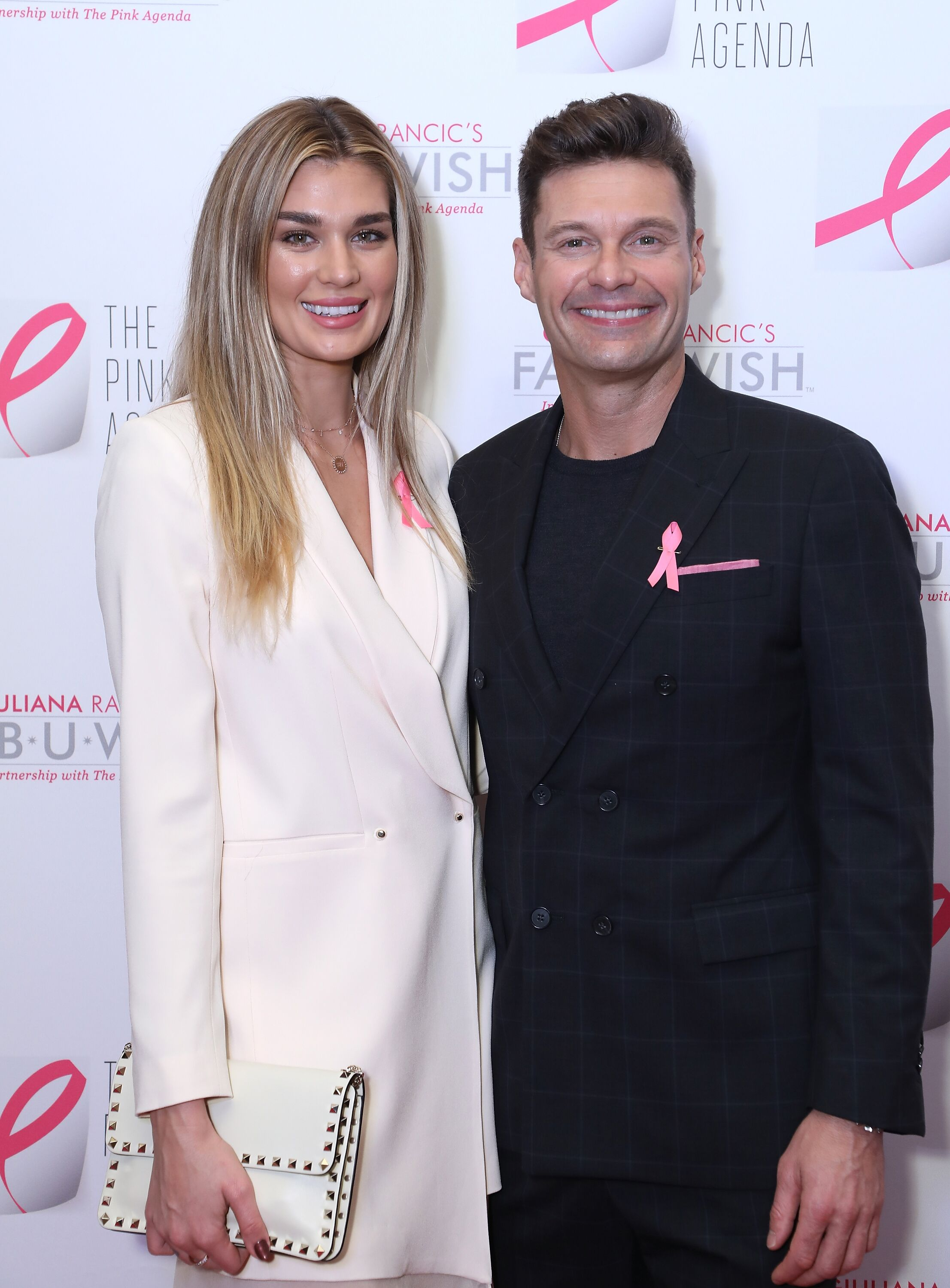 Shayna Taylor and Ryan Seacrest attend The Pink Agenda's Annual Gala.   Source: Getty Images