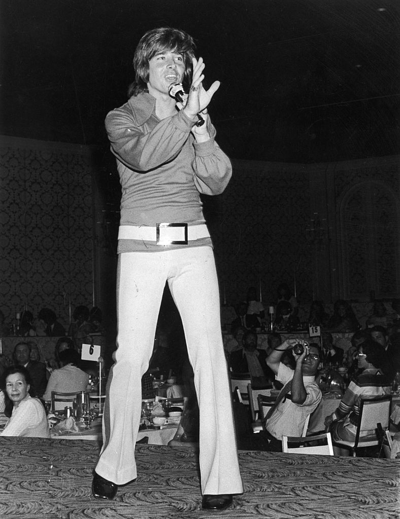 teen idol Bobby Sherman performing on stage at Variety Club event | Getty Images