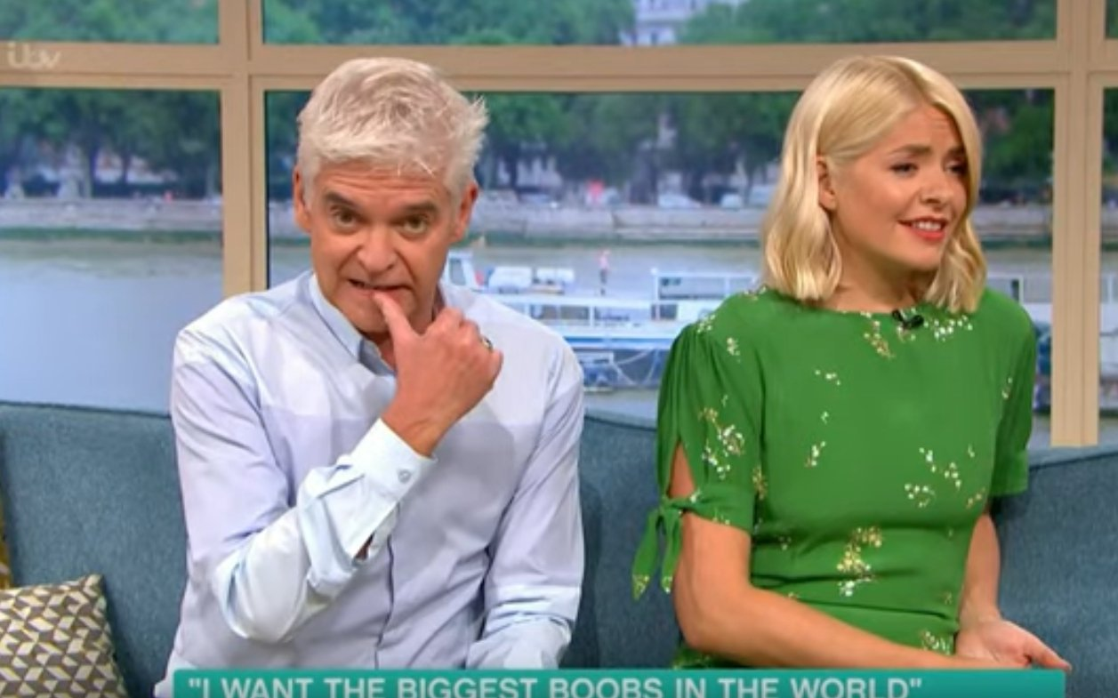 """Phillip Schofield and Holly Willoughby react to Martina Big on """"This Morning: 