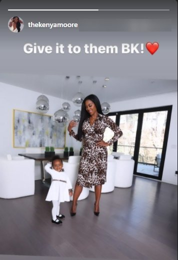 A screenshot of Kenya Moore's post on her Instagram story | Photo: Instagram.com/thekenyamoore/