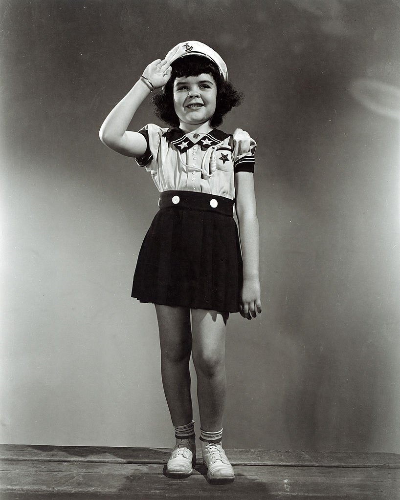 """A portrait of child star Darla Hood in the """"Our Gang"""" series , circa 1935 