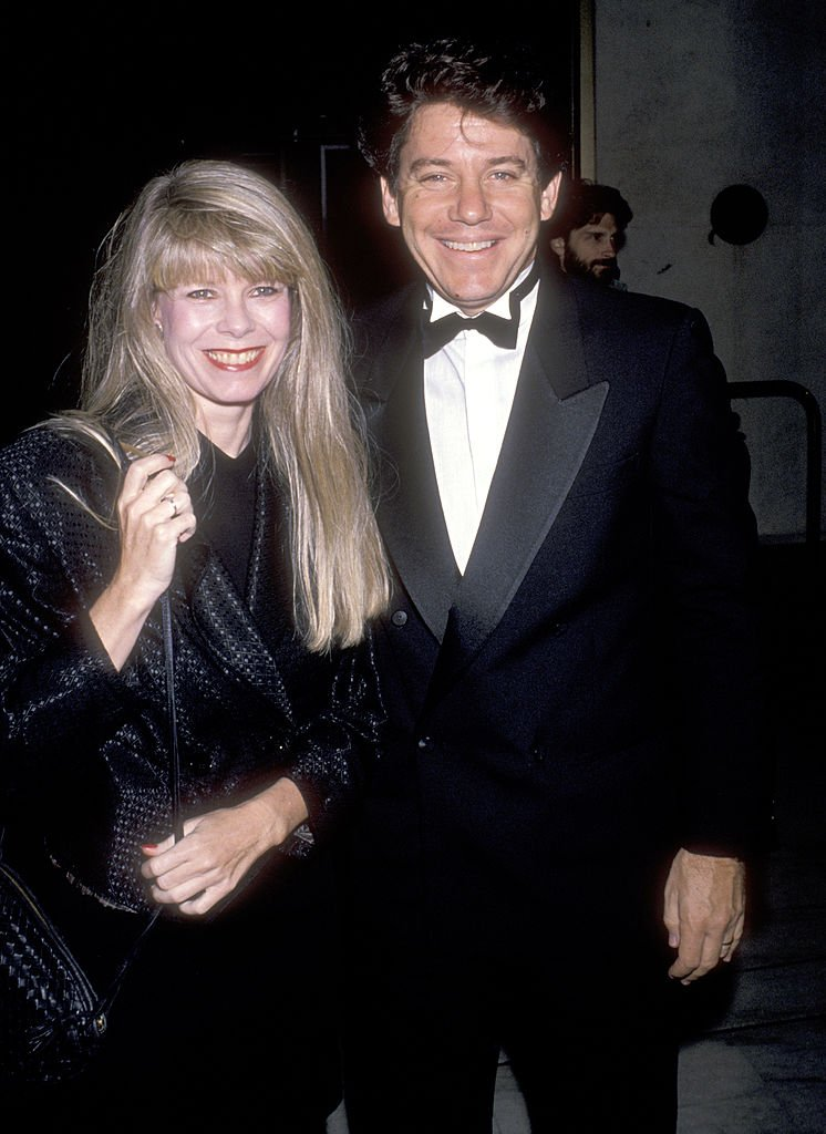 Anson Williams and wife Jackie Gerken attend The National Conference of Christians and Jews Gala Honoring Robert Wright on October 16, 1989.   Photo: Getty Images