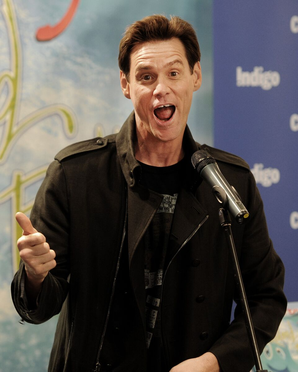 Jim Carrey hosts a signing for his children's book 'How Roland Rolls' at Indigo. | Source: Getty Images