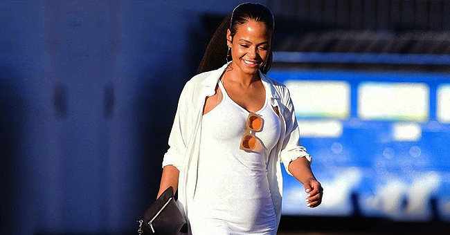 Christina Milian Is All Smiles in Los Angeles Days after Her Pregnancy Announcement