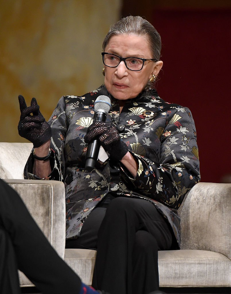 Justice Ruth Bader Ginsburg speaks onstage at An Historic Evening with Supreme Court Justice Ruth Bader Ginsburg. | Photo: Getty Images