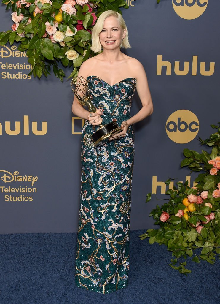 Michelle Williams arrives at the Walt Disney Television Emmy Party | Getty Images
