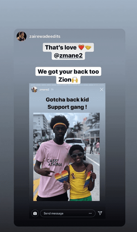Screenshot of Zion Wade with brother, Zaire at the Miami Beach Gay Pride on Apr. 7, 2019. | Photo: Instagram Story/@zmane2