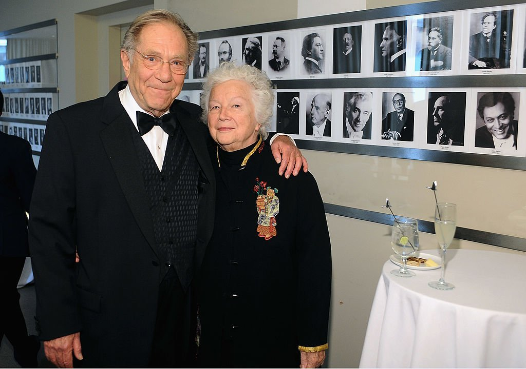 George Segal and Sonia Schultz Greenbaum attend the Grey Goose cocktail reception of The Film Society of Lincoln Center's 40th Chaplin Award Gala | Getty Images