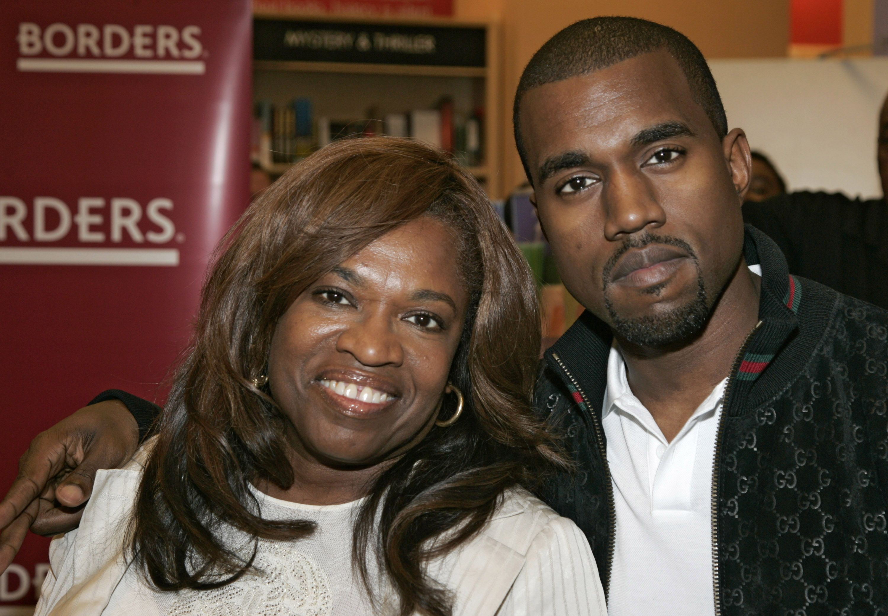 """Donda West at a book signing for """"Raising Kanye"""" with son Kanye West in June 2007 