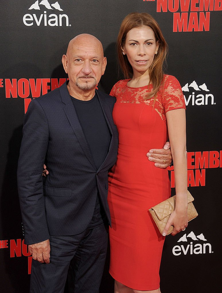 """Ben Kingsley and Daniela Lavender at the Los Angeles premiere of """"The November Man"""" at TCL Chinese Theatre on August 13, 2014 