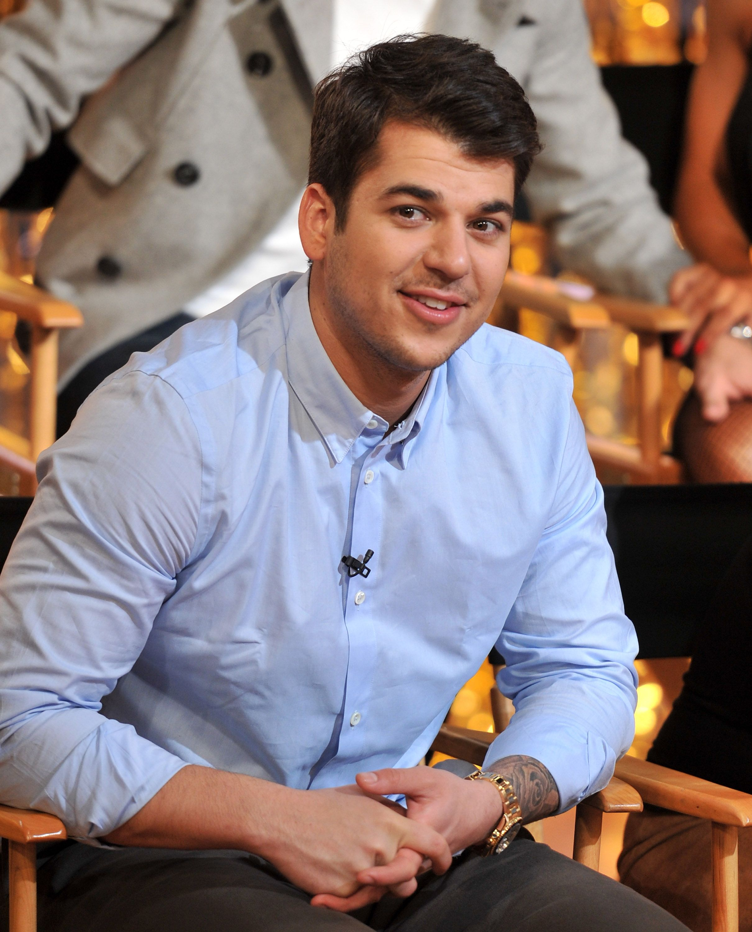 """KUWTK star Rob Kardashian during his 2011 visit to """"Good Morning America"""" at ABC Studios in New York City. 