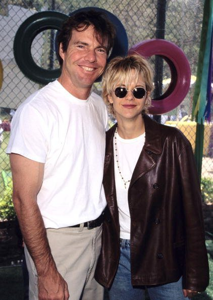 Dennis Quaid and Meg Ryan during '95 Pediatric Aids Foundation Annual Picnic at Private Home in Los Angeles, California, United States | Photo: Getty Images