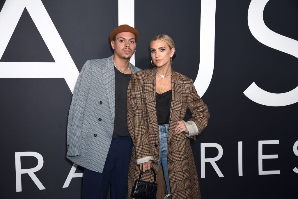 Evan Ross and Ashlee Simpson attend Lady Gaga Celebrates the Launch of Haus Laboratories at Barker Hangar | Photo: Getty Images