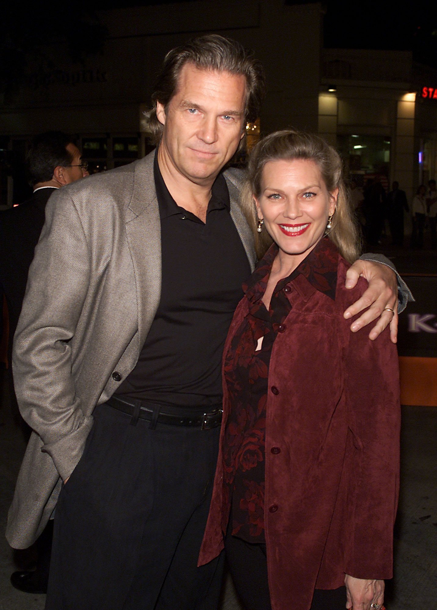 """Jeff and Susan Bridges at the premiere of """"K-Pax"""" at the Village Theater in Los Angeles on October 22, 2001. 