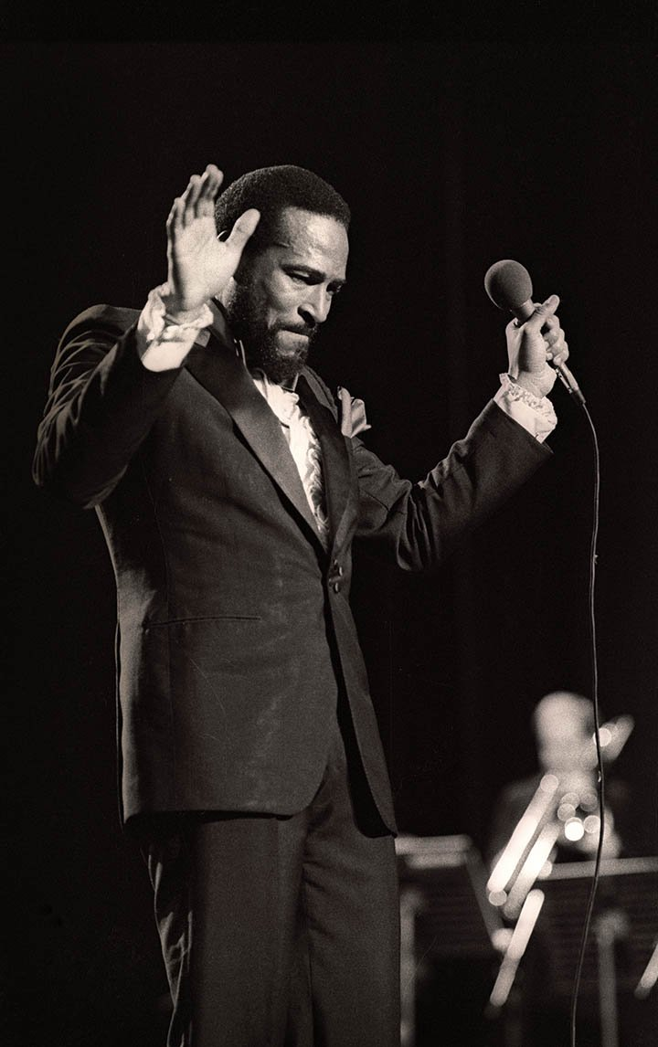 Marvin Gaye performing at Casino in  Oostende, Belgium in 1981. I Image: Getty Images.