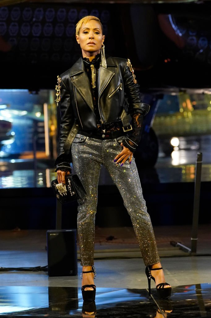Jada Pinkett Smith at the runway of the Philipp Plein fashion show on February 22, 2020 in Milan | Photo: Getty Images