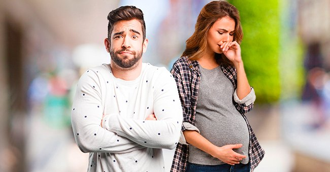 A pregnant woman crying while a man stays beside her. | Source: Shutterstock