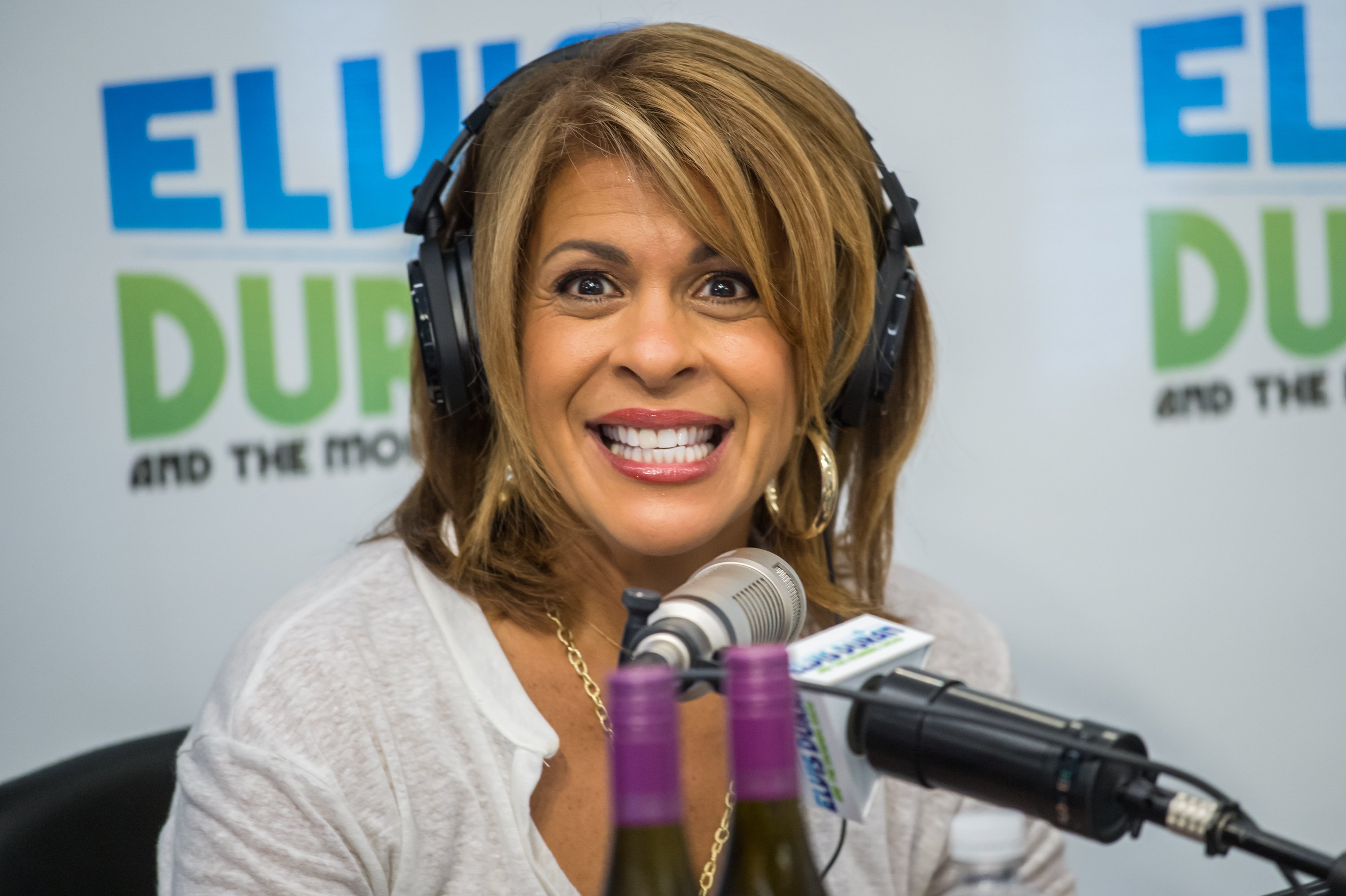 """""""Today"""" host Hoda Kotb during her 2015 visit in Z100 Studio's """"The Elvis Duran Z100 Morning Show"""" in New York City. 