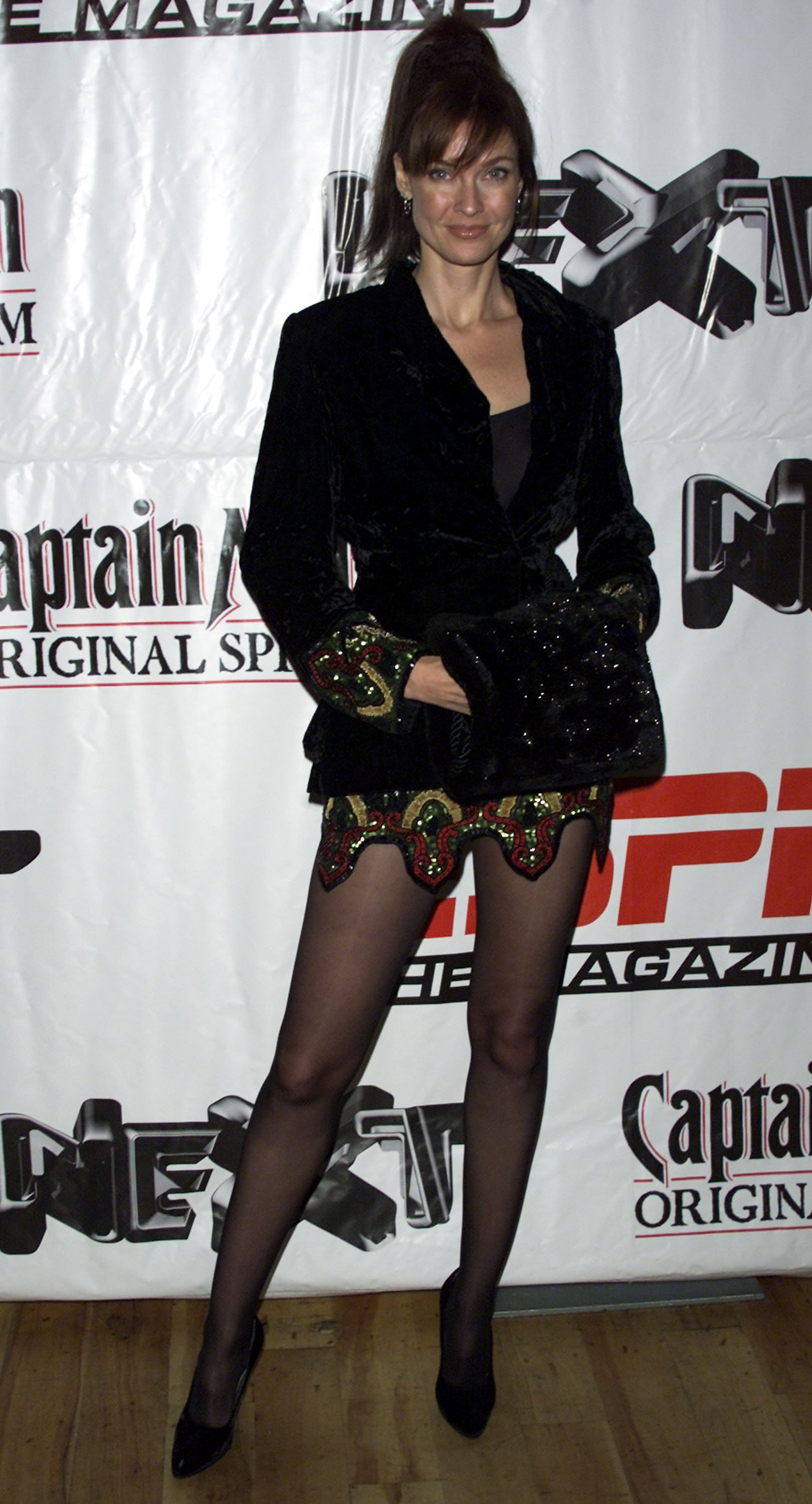 Carol Alt arrives at ESPN Magazine's party to celebrate the release of year-end issue of the magazine at the Exit night club December 11, 2002, in New York City, New York. | Source: Getty Images.
