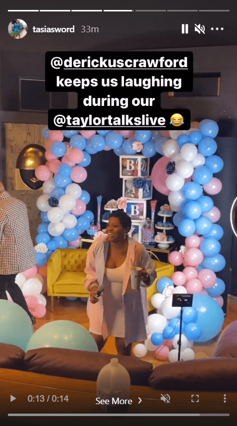A screenshot from a video of singer Fantasia Barrino showing off her baby bump on her Instagram page   Photo: Instagram/tasiasworld