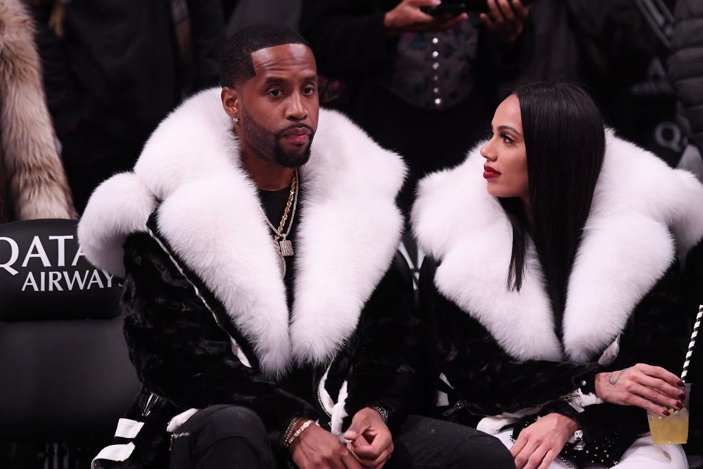 Safaree Samuels and Erica Mena attend the game between the Utah Jazz and the Brooklyn Nets at Barclays Center | Photo: Getty Images