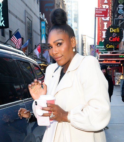 Serena Williams outside Good Morning America  in New York City.| Photo: Getty Images
