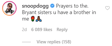 Snoop Dogg's comment on his own post | Source: Instagram/snoopdogg