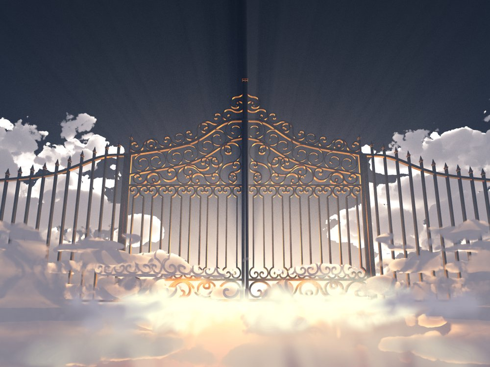 The Gates of Heaven sitting on clouds. | Photo: Shutterstock