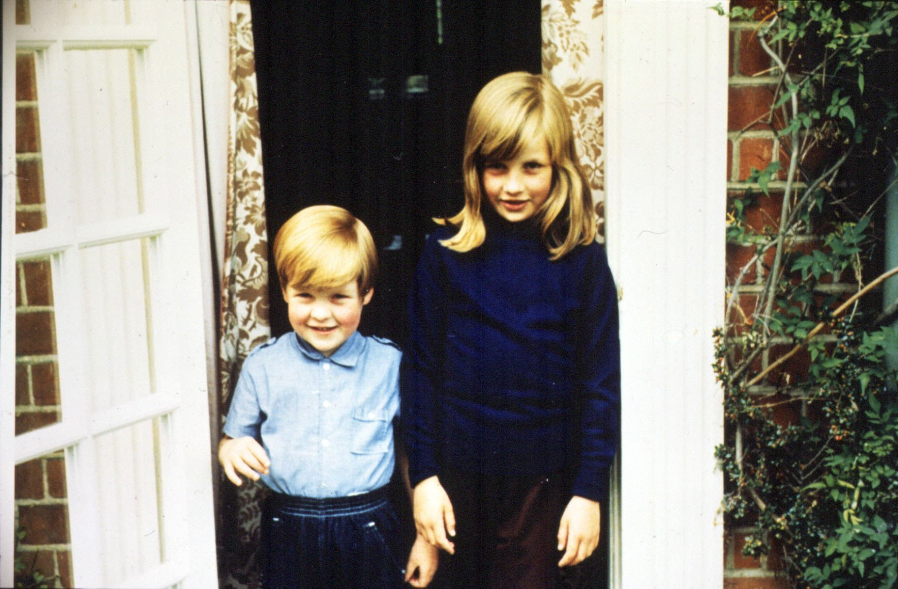 An undated photo of Diana Princess of Wales with her brother Charles Spencer in 1968 | Photo: Getty Images