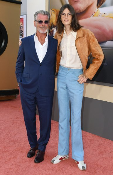 """Pierce Brosnan and son Dylan Brosnan attends Sony Pictures' """"Once Upon A Time...In Hollywood"""" Los Angeles Premiere in Hollywood 