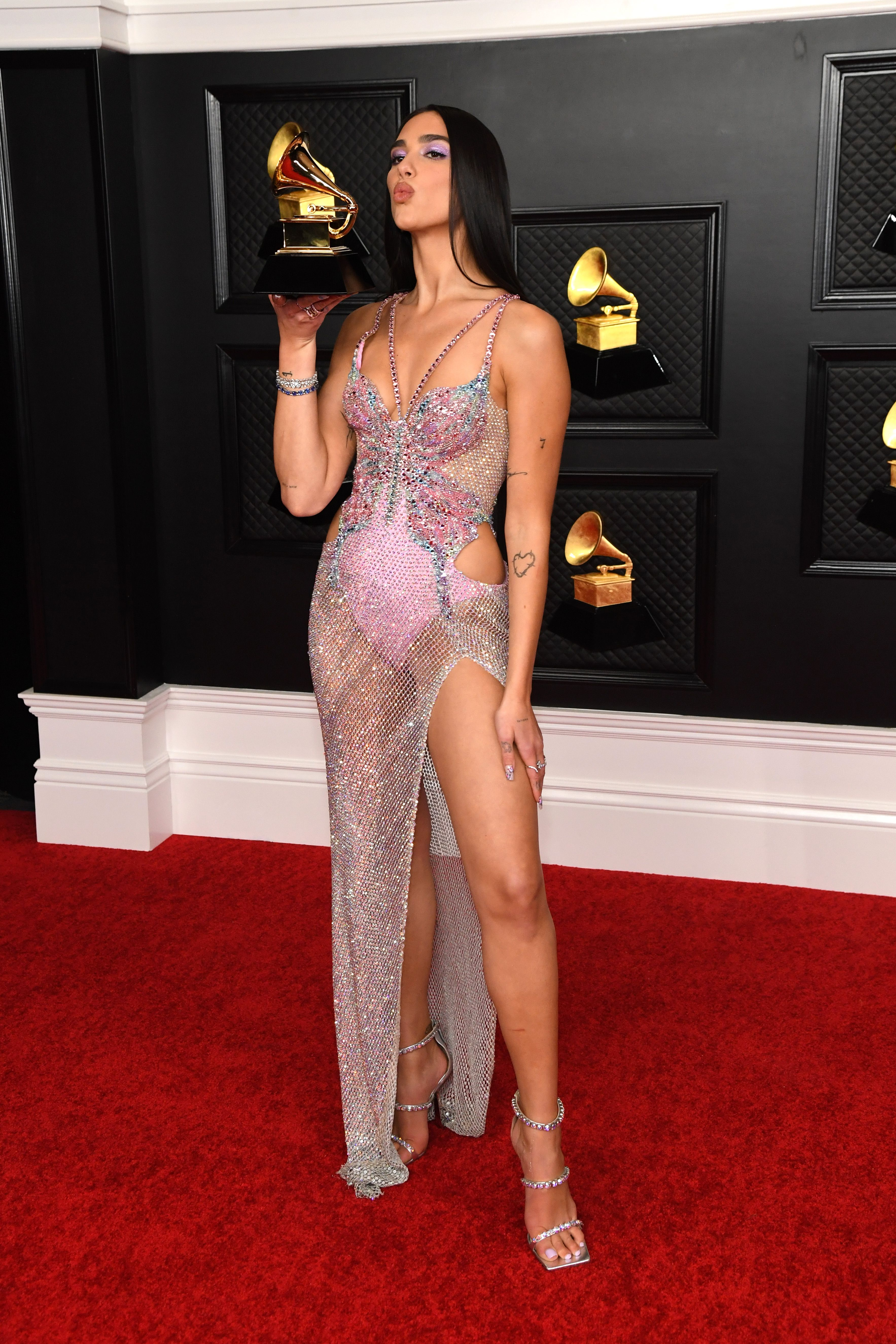 Dua Lipa, winner of Grammy for Best Pop Vocal Album on March 14, 2021 in Los Angeles, California   Source: Getty Images