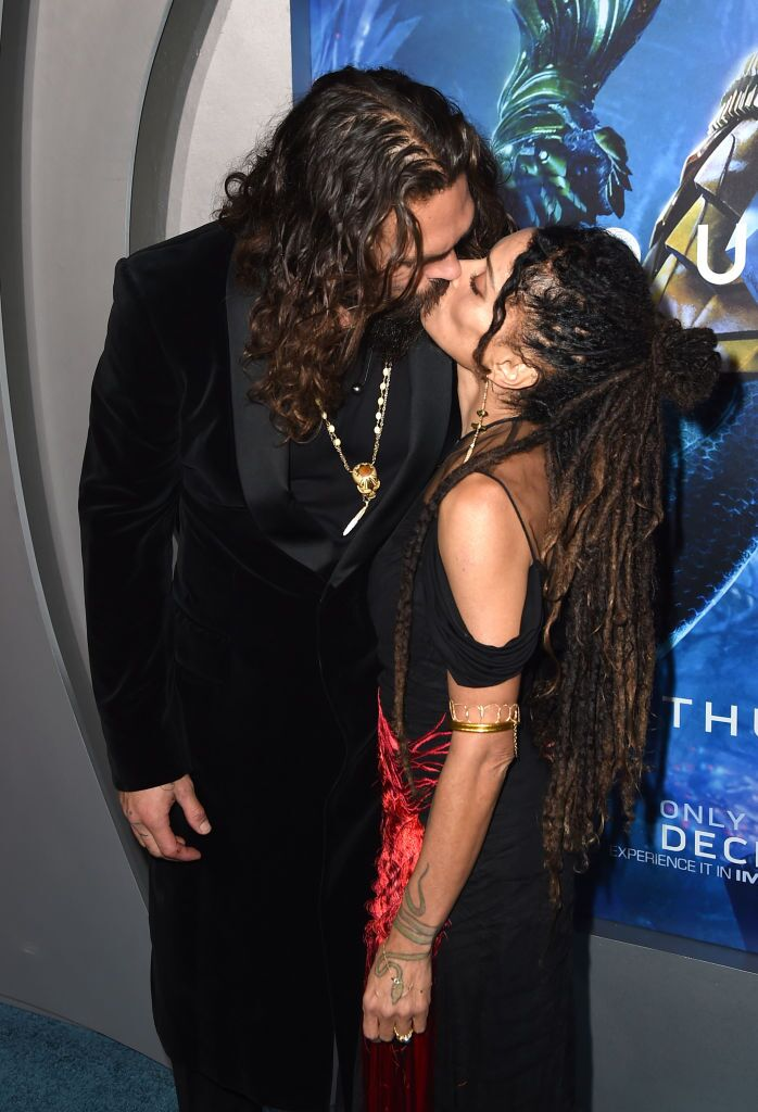 "Jason Momoa and wife Lisa Bonet at the ""Aquaman"" premiere/ Source: Getty Images"