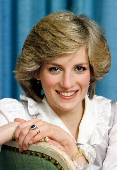 Diana, Princess of Wales, at home in Kensington Palace, in an undated photo. | Photo: Getty Images