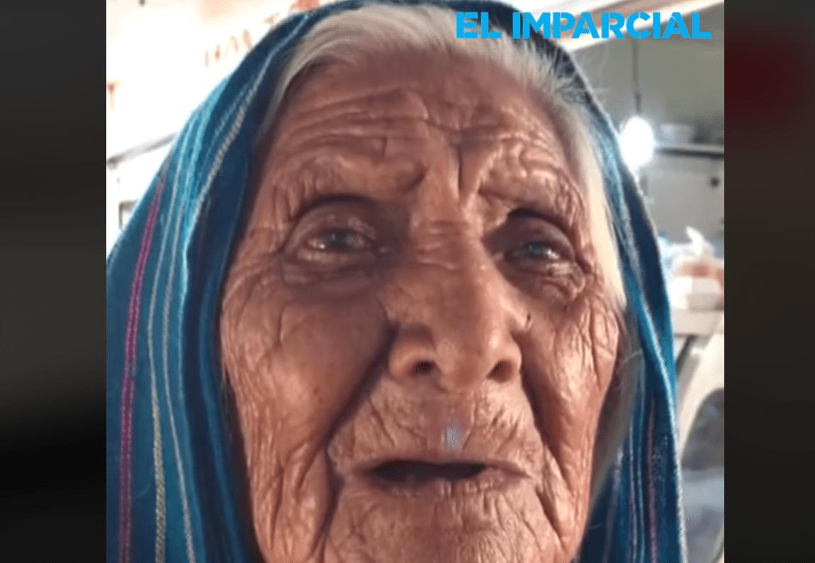 Doña Lucía en entrevista aseguró que no le pide nada a sus hijos │Imagen tomada de: Facebook / El Imparcial