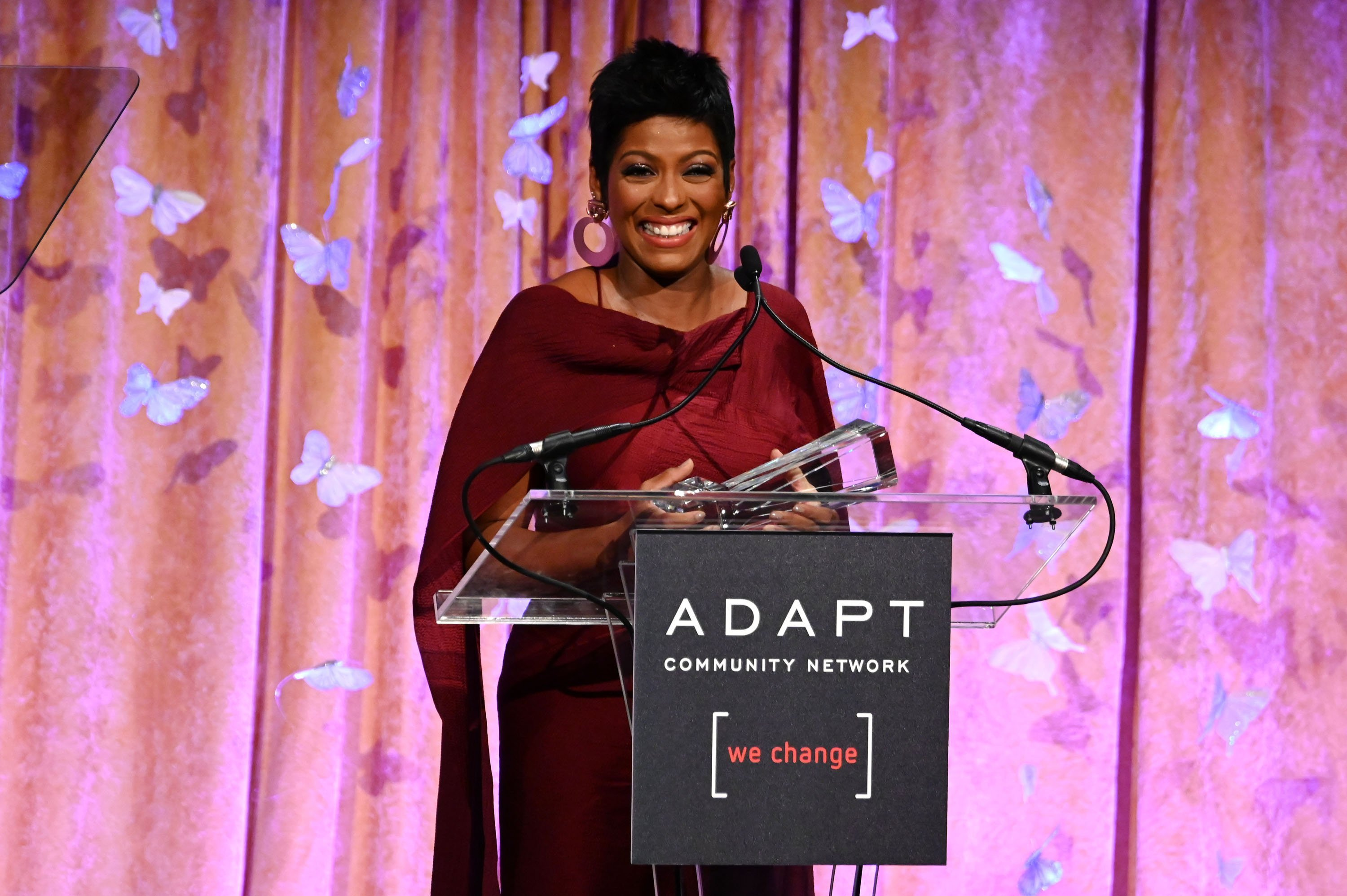 Tamron Hall speaks onstage during the 2019 2nd Annual ADAPT Leadership Awards at Cipriani 42nd Street | Photo: Getty Images