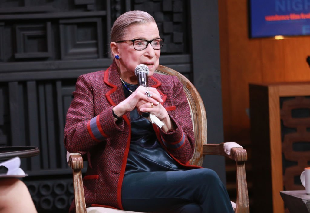 Justice Ruth Bader Ginsburg speaks during the 2018 Sundance Film Festival at Filmmaker Lodge. | Photo: Getty Images